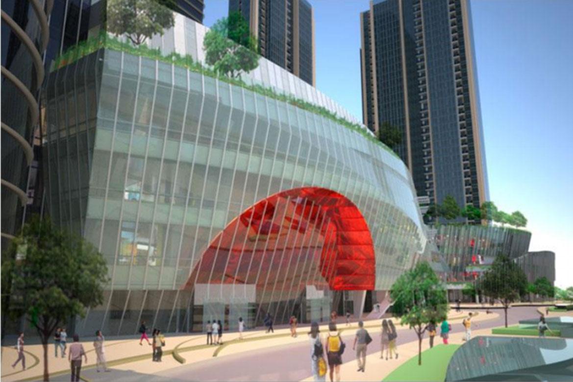 Всесвітній торгівельний центр у Нанкіні </br> MIX STUDIOWORKS, INC </br>Лос-Анджелес, США