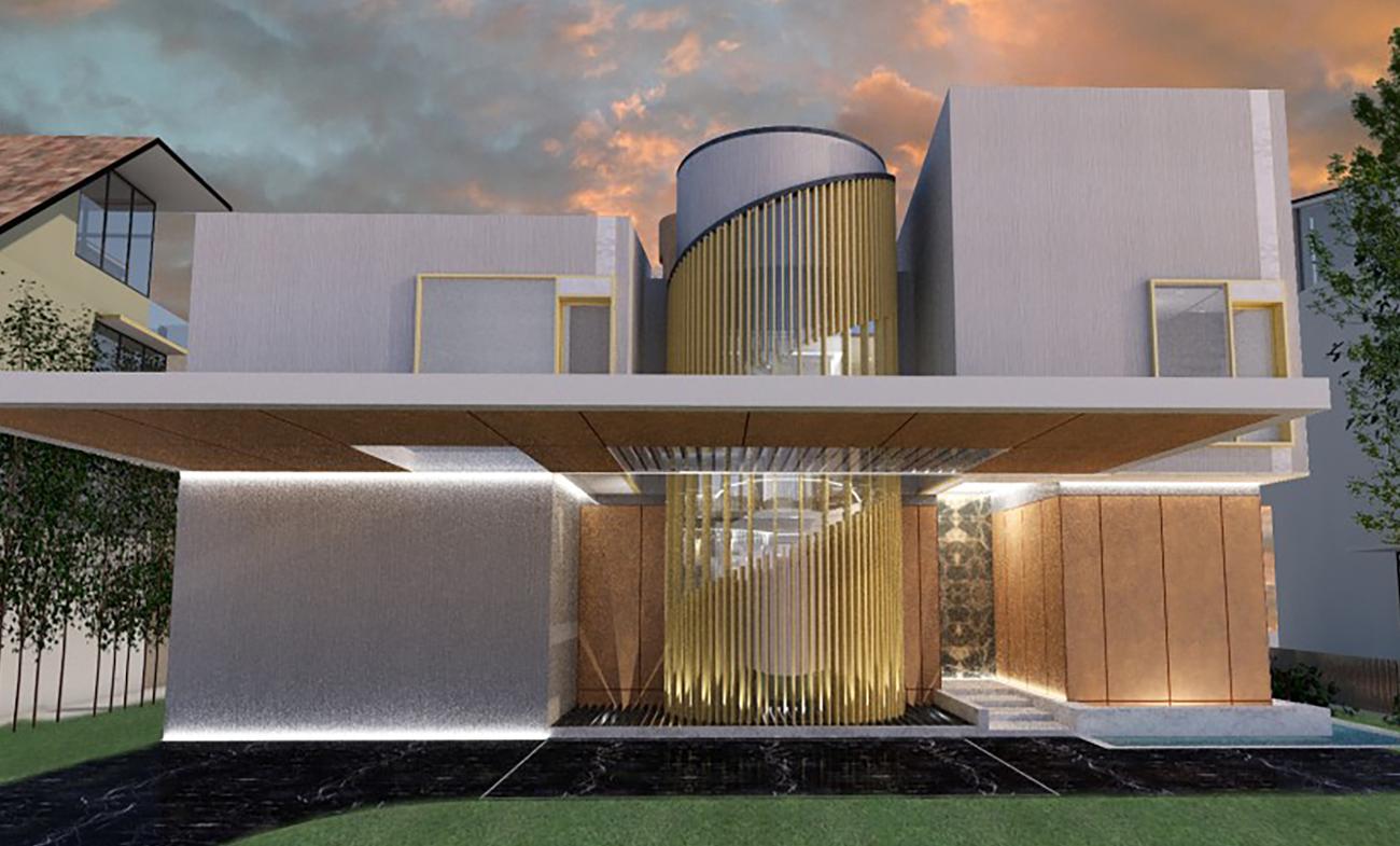 Проектирование частного дома по принципам BIM, </br> HCF and Associates, </br>Сингапур